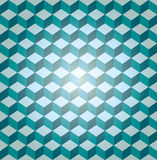 Blue seamless cube pattern. Illustrated Royalty Free Stock Photo