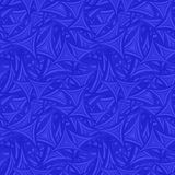 Blue seamless curved background. Blue seamless curved triangle pattern background Stock Image