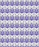 Blue seamless damask pattern Stock Images