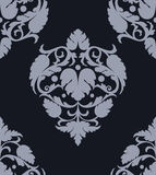 Blue seamless Damask wallpaper Royalty Free Stock Photos