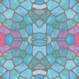 Blue seamless decorative mosaic pattern in retro style royalty free stock photo