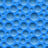 Blue seamless dotted plastic background Stock Photos