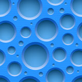 Blue seamless dotted plastic background Stock Photography