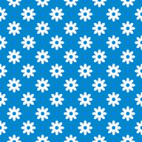 Blue seamless floral background Stock Photos