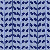 Blue seamless floral pattern handmade. Royalty Free Stock Photos