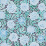 Blue seamless floral vector pattern with mosaic texture royalty free illustration