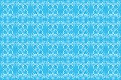 Blue seamless flower background Stock Image