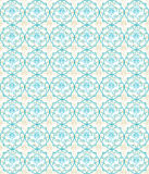 Blue seamless flower damask pattern Stock Image