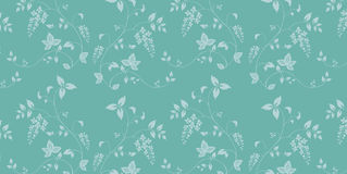 Blue seamless flower pattern Stock Image