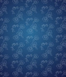 Blue seamless flower pattern Royalty Free Stock Photography