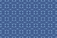 Blue seamless flower pattern Stock Photo