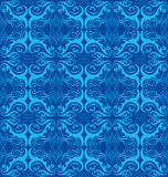 Blue seamless flower pattern Stock Photography