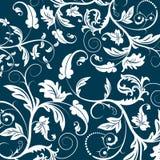 Blue seamless flower pattern Royalty Free Stock Photo