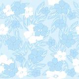 Blue seamless flowers stock illustration