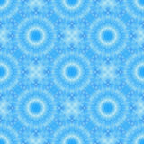 Blue seamless fractal based tile with a fine circular mandala design. Seamless fractal based tile with a fine circular mandala design in shades of icy blue. For Stock Image