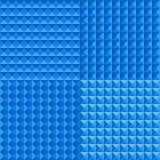 Blue Seamless Geometric Background Stock Photography
