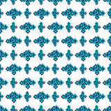 Blue seamless geometric pattern on a white background Royalty Free Stock Photo