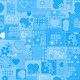 Blue seamless glamour background Royalty Free Stock Photos