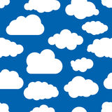 Blue seamless illustration of clouds wallpaper Stock Photography