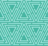 Blue seamless maze pattern Stock Photos