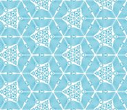 Blue Seamless Monochrome Pattern Royalty Free Stock Photography