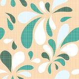 Blue seamless. Blue natural floral seamless texture on a beige background Stock Photo