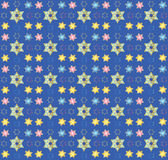 Blue seamless oriental pattern Stock Image