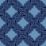 Blue seamless ornament Stock Photos
