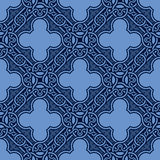 Blue seamless ornament Royalty Free Stock Photography