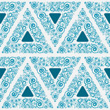 Blue seamless ornament for wallpaper Stock Images