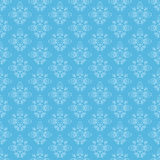Blue seamless ornamental pattern - vector Royalty Free Stock Images