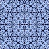 Blue seamless ornamental Wallpaper. Stock Images