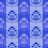 Blue seamless pattern Stock Photos