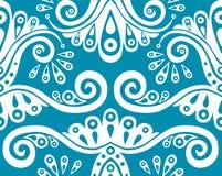 Blue seamless pattern. Vector beautiful blue seamless pattern Stock Image