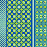 Blue seamless pattern. Seamless patterns. Polka dots set Vector Illustration