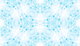 Blue seamless pattern. Amusing delicate soap bubbl stock illustration