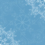 Blue seamless pattern background, Christmas and New Year greeting card, invitation with snowflake ornaments Royalty Free Stock Image