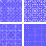 Blue seamless pattern background set. Blue seamless abstract pattern design background set Royalty Free Stock Images