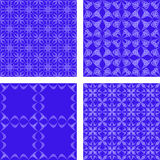 Blue seamless pattern background set. Blue abstract seamless vector pattern background set Royalty Free Stock Photo