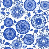 Blue seamless pattern Stock Photo