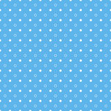 Blue seamless pattern with circles and dots. Blue seamless pattern with white circles and dots Stock Illustration