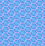 Blue seamless pattern with circles Stock Photo