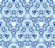 Blue seamless pattern. Seamless pattern composed of color abstract elements located on white background. Stock Photo