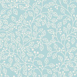 Blue seamless pattern with leaves Royalty Free Stock Photography