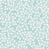 Blue seamless pattern with leaves Royalty Free Stock Photo