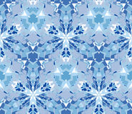 Blue seamless pattern. Seamless pattern composed of color abstract elements located on white background. Royalty Free Stock Photography