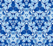 Blue seamless pattern. Seamless pattern composed of color abstract elements located on white background. Stock Images