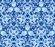 Blue seamless pattern. Seamless pattern composed of color abstract elements located on white background. Royalty Free Stock Photos