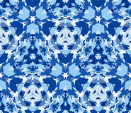 Blue seamless pattern. Seamless pattern composed of color abstract elements located on white background. Royalty Free Stock Photo