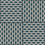 Blue seamless pattern with simple geometric ornament. Repeated square and stripes background. Modern surface texture. Royalty Free Stock Photography